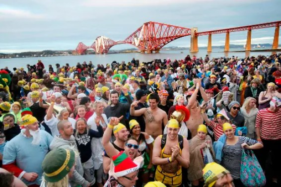 Edinburgh's Hogmanay - The Loony Dook (Photo Lloyd Smith)