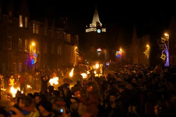 Stonehaven Fireball Ceremony (Photo copyright: Stonehaven Fireballs Association)
