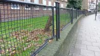 Old World War II stretchers turned into railings in Oval