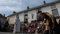 Mock battles in Shropshire for the Clun Green Man Festival