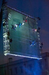 As The World Tipped - Wired Aerial Theatre - Image Sophie Laslett