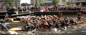 Leeds Waterfront Festival 2014 - boat race