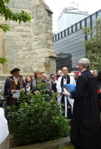 Knollys Rose Ceremony - All Hallows by the Tower - City of London