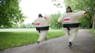 Walking and wobbling in Battersea Park for the Sumo Run