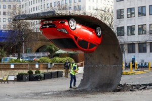 Alex Chinneck - Vauxhall - Hungerford Car Park Southbank