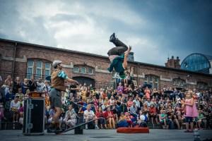 Festival of Fools - Les Dude Teeterboard