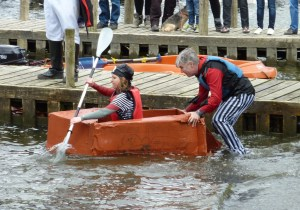 Contrary Life - Low Wood No Wood Cardboard Boat Race