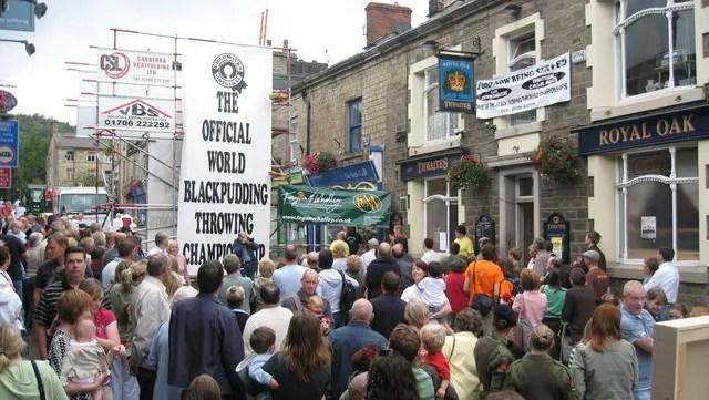 Royal Oak Ramsbottom - Black Pudding Throwing Championships