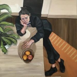 Self Portrait Painters Block Ania Hobson