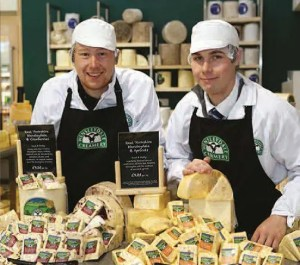 Wensleydale Creamery 2 men with cheese