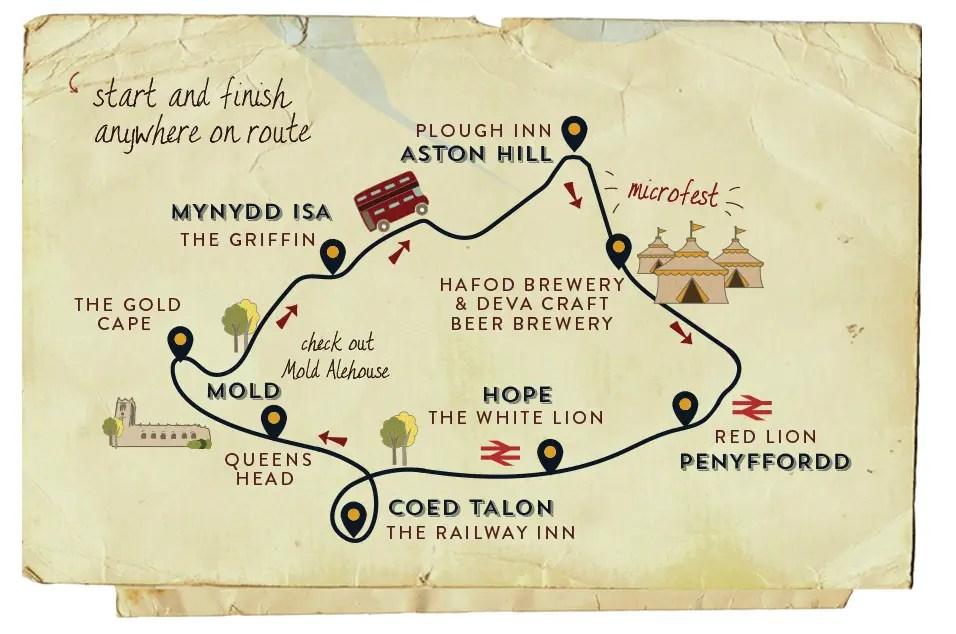 Real Ale Trail 2017 - Flintshire map