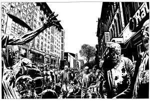 Charlie Adlard - The Walking Dead artwork - Lakes International Comic Art Festival 2017