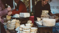 Artisan cheese and a wall of cheddar in London