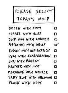 themisfortuneteller, Today's Mood Board, 2018 © themisfortuneteller