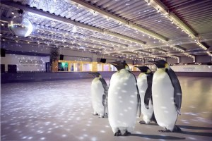 Skate with Penguins at Queens Skate Dine and Bowl London