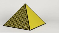 Roy Lichtenstein, Pyramid, 1968, lithograph © the Estate of Roy Lichtenstein/DACS 2015 Courtesy Arts Council Collection, Southbank Centre, London