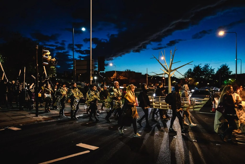 The Pyre Parade, The Rough Band, SPILL Festival of Performance 2019, image by Guido Mencari