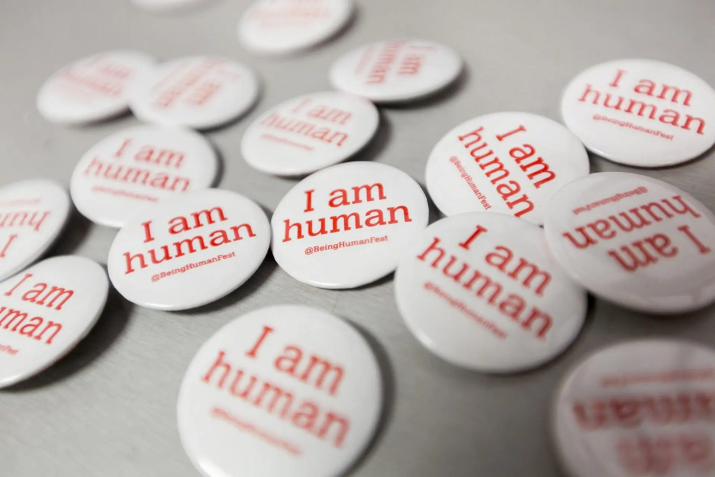 Being Human festival - I am human badge - credit - Being Human festival