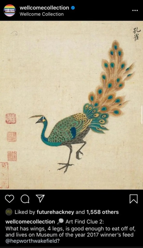 Wellcome Collection instagram image