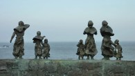 St Abbs Sculpture, Widows and Bairns, Black Friday