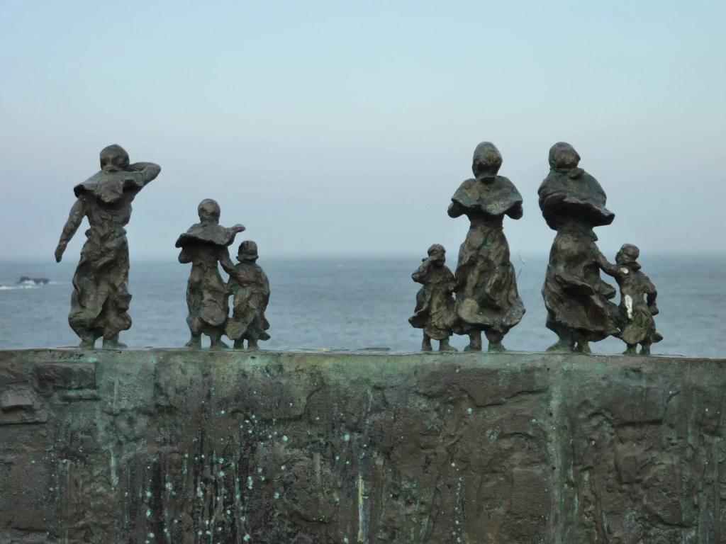St Abbs Sculpture, Widows and Bairns, Black Friday