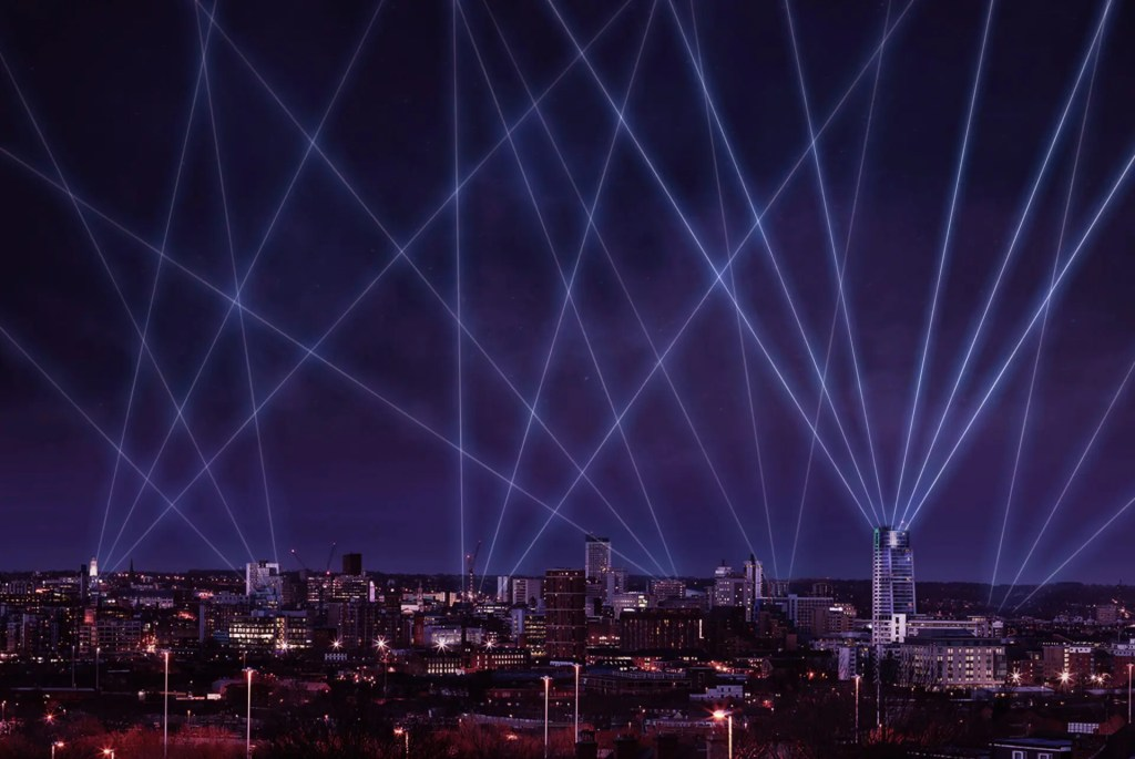 Laser Light City Leeds, Keith Craven Photography