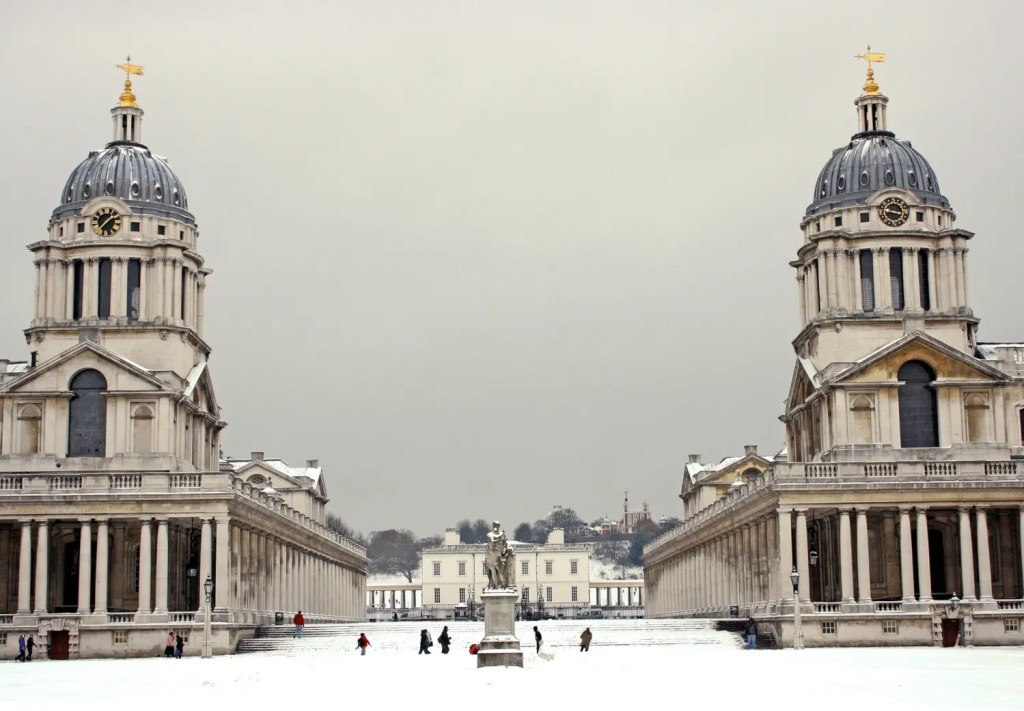 Old Royal Naval College in Winter