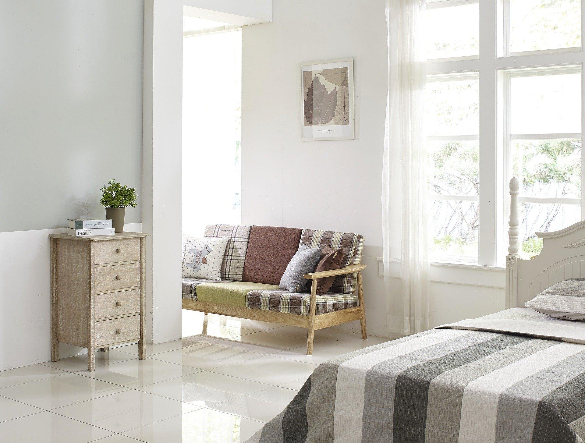 3 Tips Til Indretning Af Sovevaerelse I Stuen Contrast Is Everything