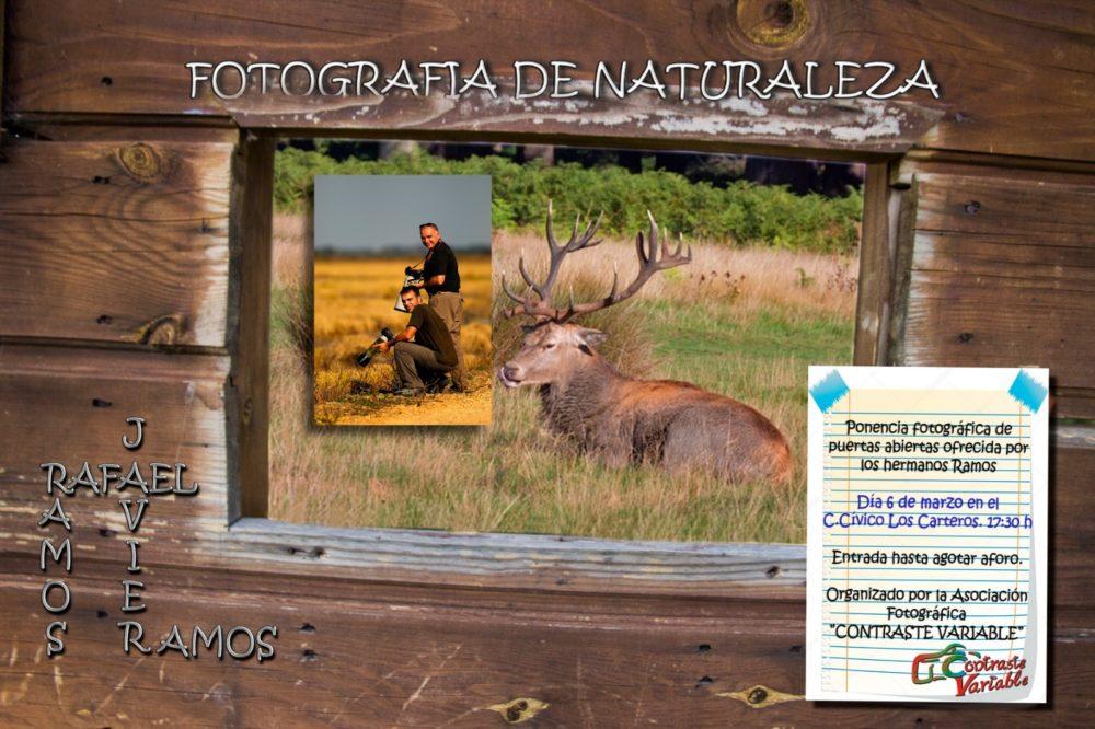 cartel presentación fotografía de naturaleza hermanos ramos