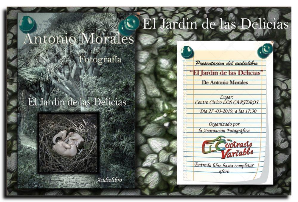 presentacion del audiolibro El jardín de las delicias