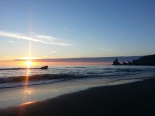 Sunset on Shi Shi beach