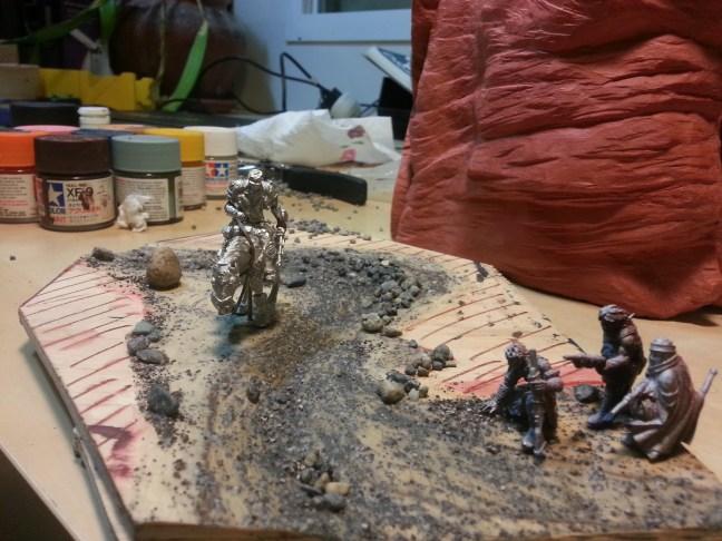 Ground work for Bloodstone diorama