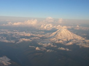 MT. Rainier viewed from the air