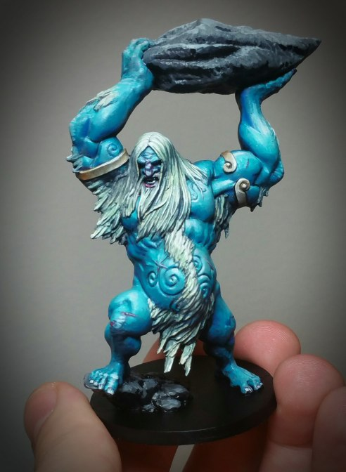 An Ice Giant from the Blood Rage Boardgame