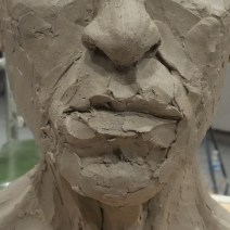 Sculpting the lips...