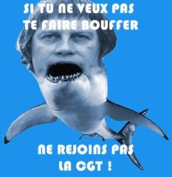La CGT : des requins !
