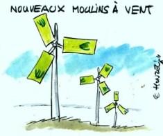 Moulins à vent, éoliennes