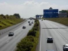 L'autoroute A10 à la hauteur de Villebon-sur-Yvette, dans l'Essonne