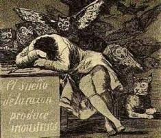 Le Sommeil de la raison engendre des monstres (Goya, image libre de droits)