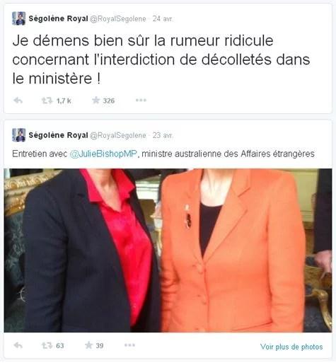 Capture Twitter Ségolène Royal