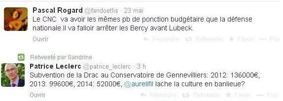 Tweets subventions