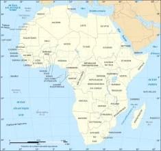 Carte des pays d'Afrique (Crédits Eric Gaba, licence Creative Commons)