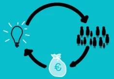 Crowdfunding (Crédits : Rocio Lara, licence CC-BY-SA 2.0), via Flickr.