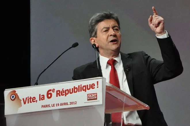 Jean-Luc Mélenchon (Crédits Blandine Le Cain, licence Creative Commons)