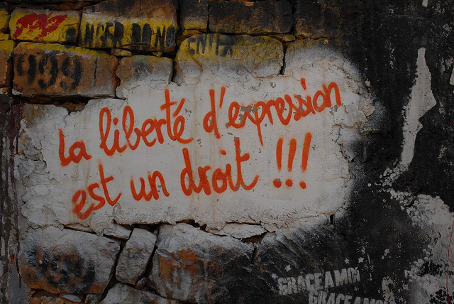 Liberté d'expression (Crédits :Demeure du chaos matttdotorg, licence Creative Commons)