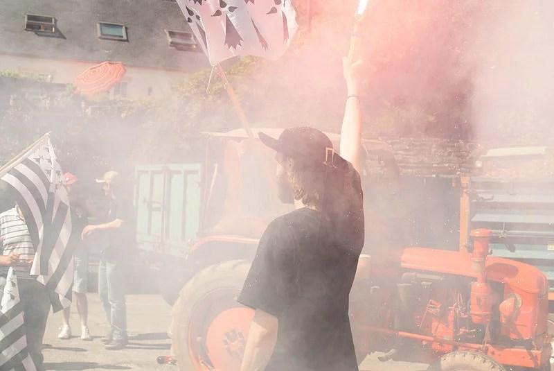 Manifestation contre l'écotaxe en Bretagne (Crédits : Anthony Malkovitch, licence Creative Commons)