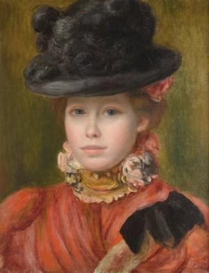 Renoir-Jeune-fille-au-chapeau-noir-a-fleurs-rouges-vers-1890-