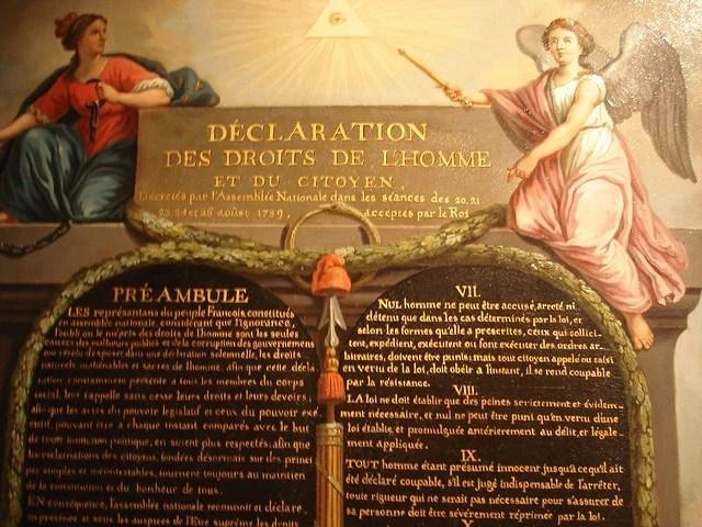 déclaration des droits de l'homme credits Alain Bisotti (licence creative commons)