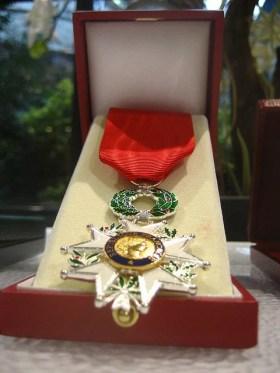 Médaille de chevalier de la Légion d'honneur Credit Sunny Ripert (Creative Commons)
