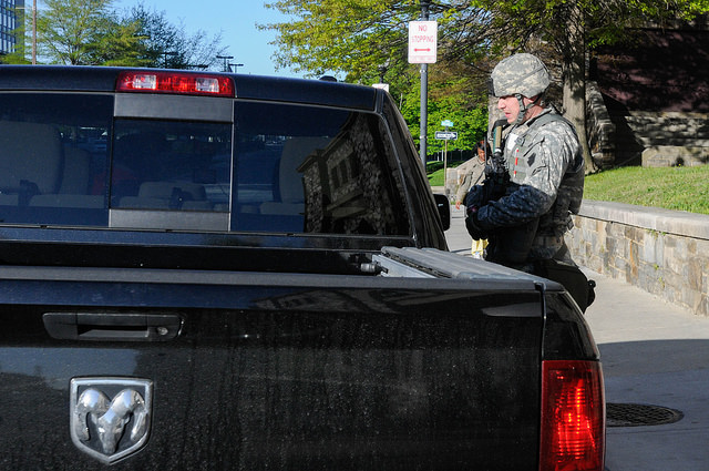 MD Guard stand alert after Baltimore Riots credits Maryland National Guard (CC BY-ND 2.0)